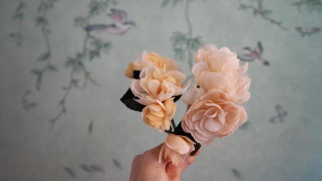 cerchietto fiori in stoffa