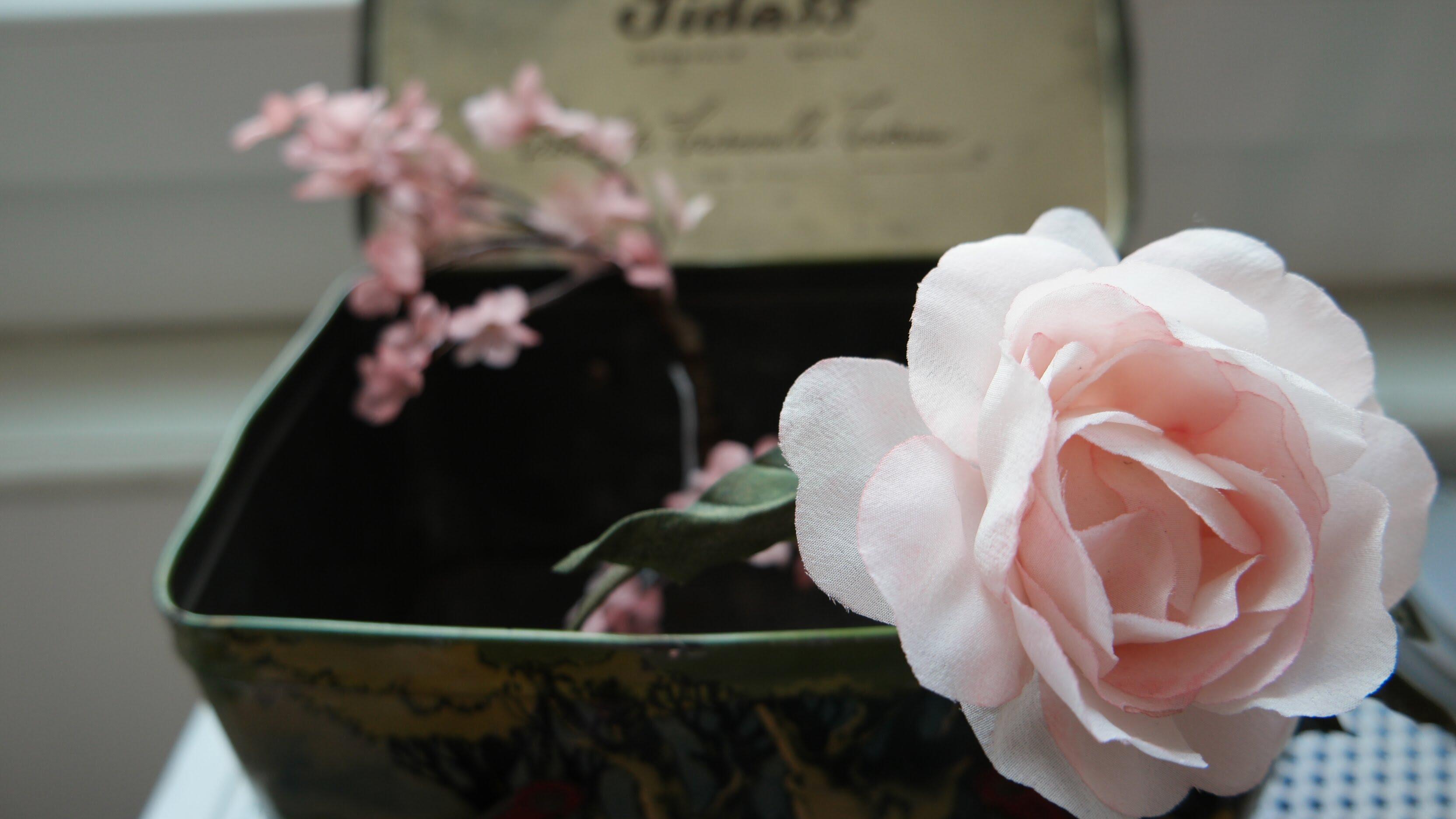 coroncine di fiori stoffa per capelli handmade