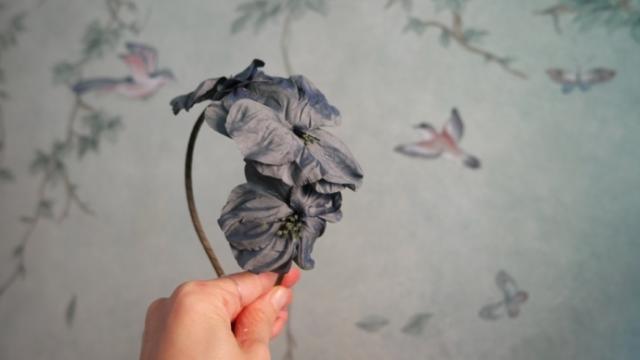 cerchietto per capelli con fiori fatto a mano a udine