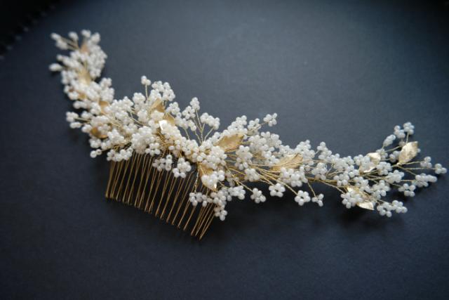 Bijoux de tete Ramage con perline cerimonia