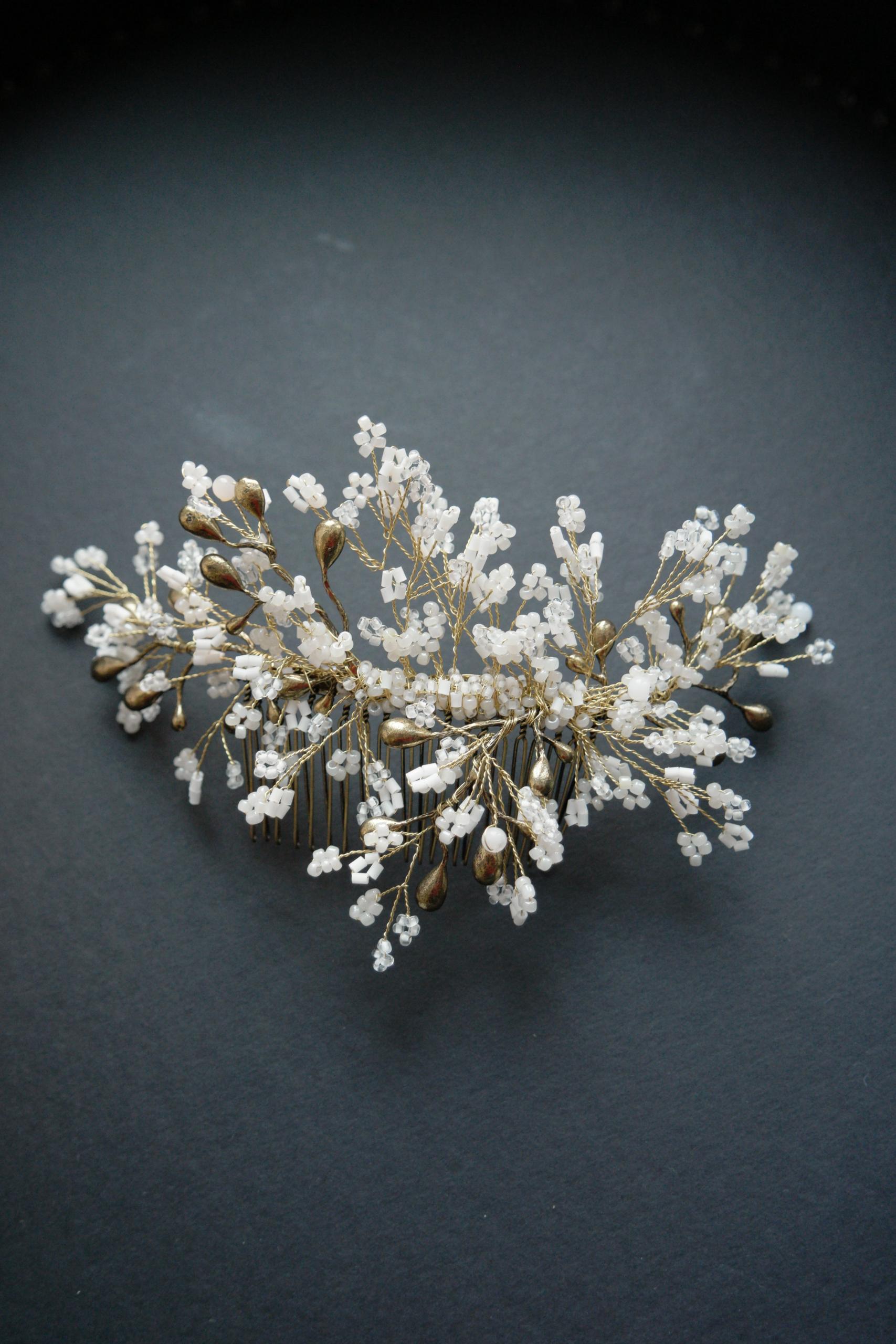 bijoux capelli con perline fatti a mano