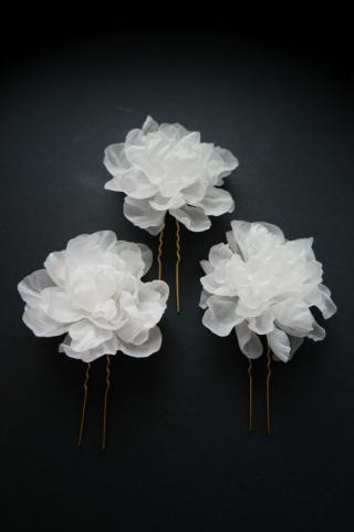 Forcine con fiori in seta officinelamour