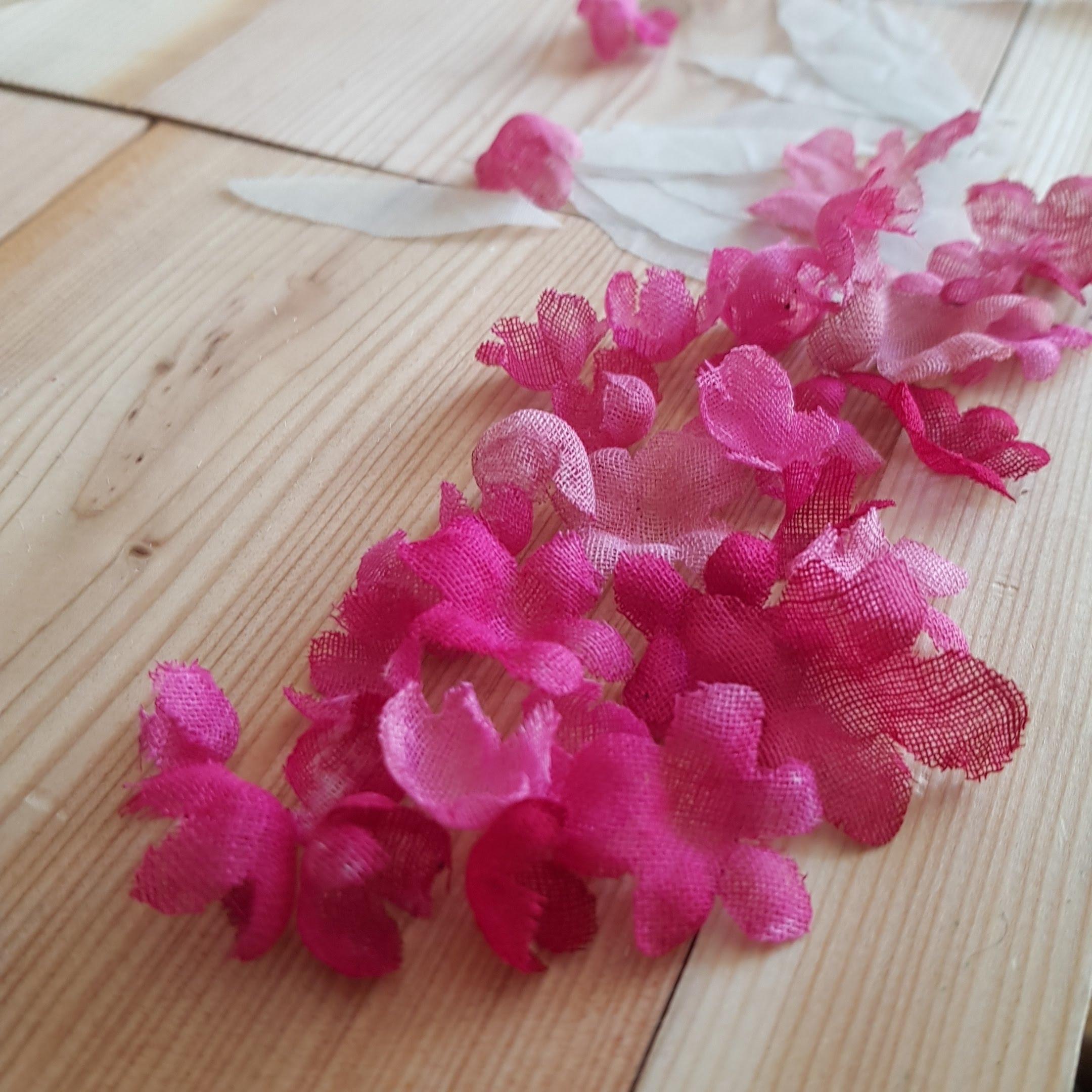 fiori in seta realizzati a mano udine
