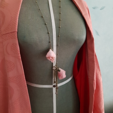 collana pendente fanè bijoux vintage fiori