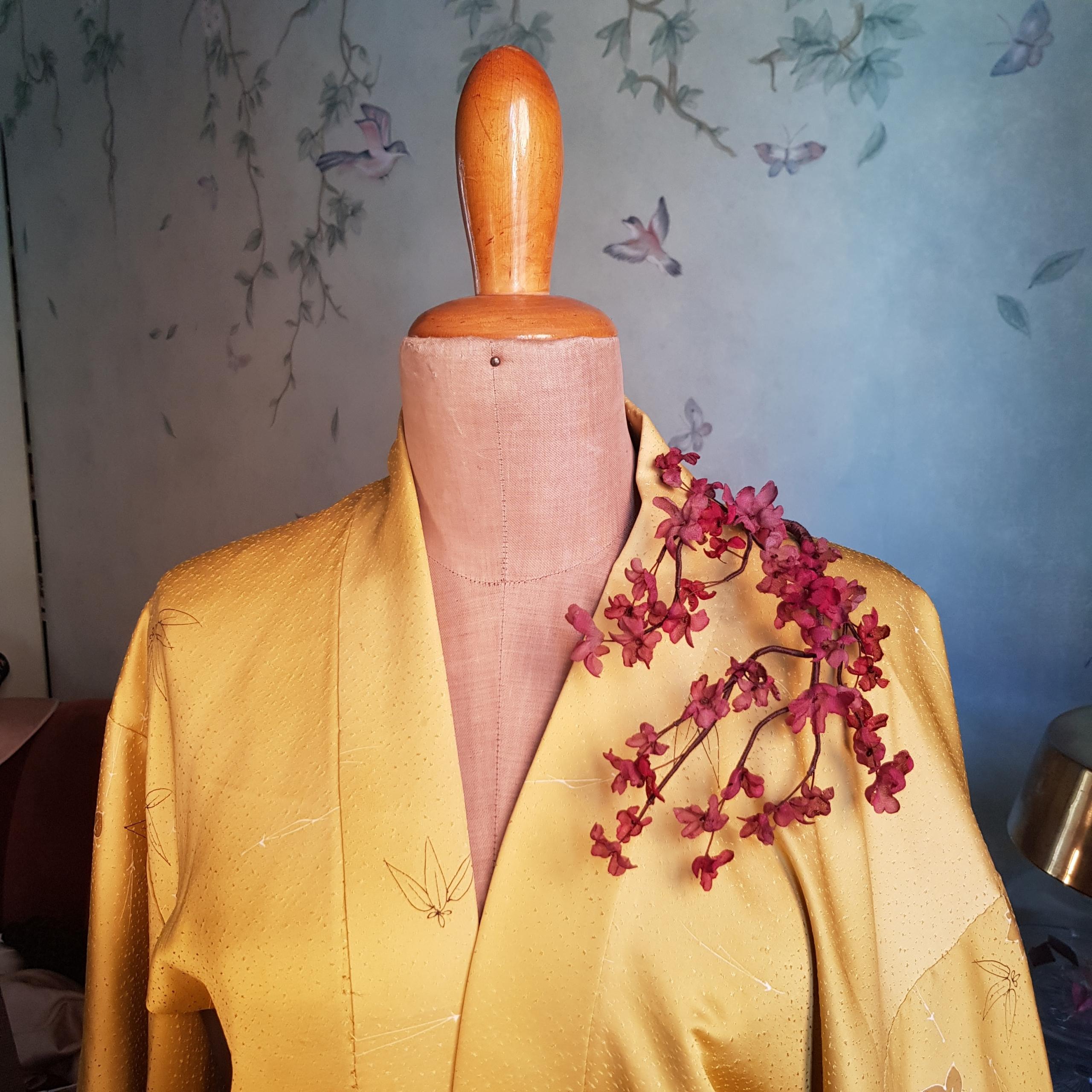 cerchietto per capelli con fiori in seta