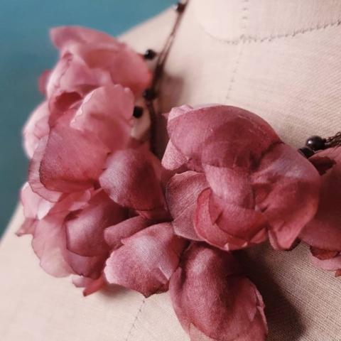 gioielli fatti a mano vintage fiori fanè