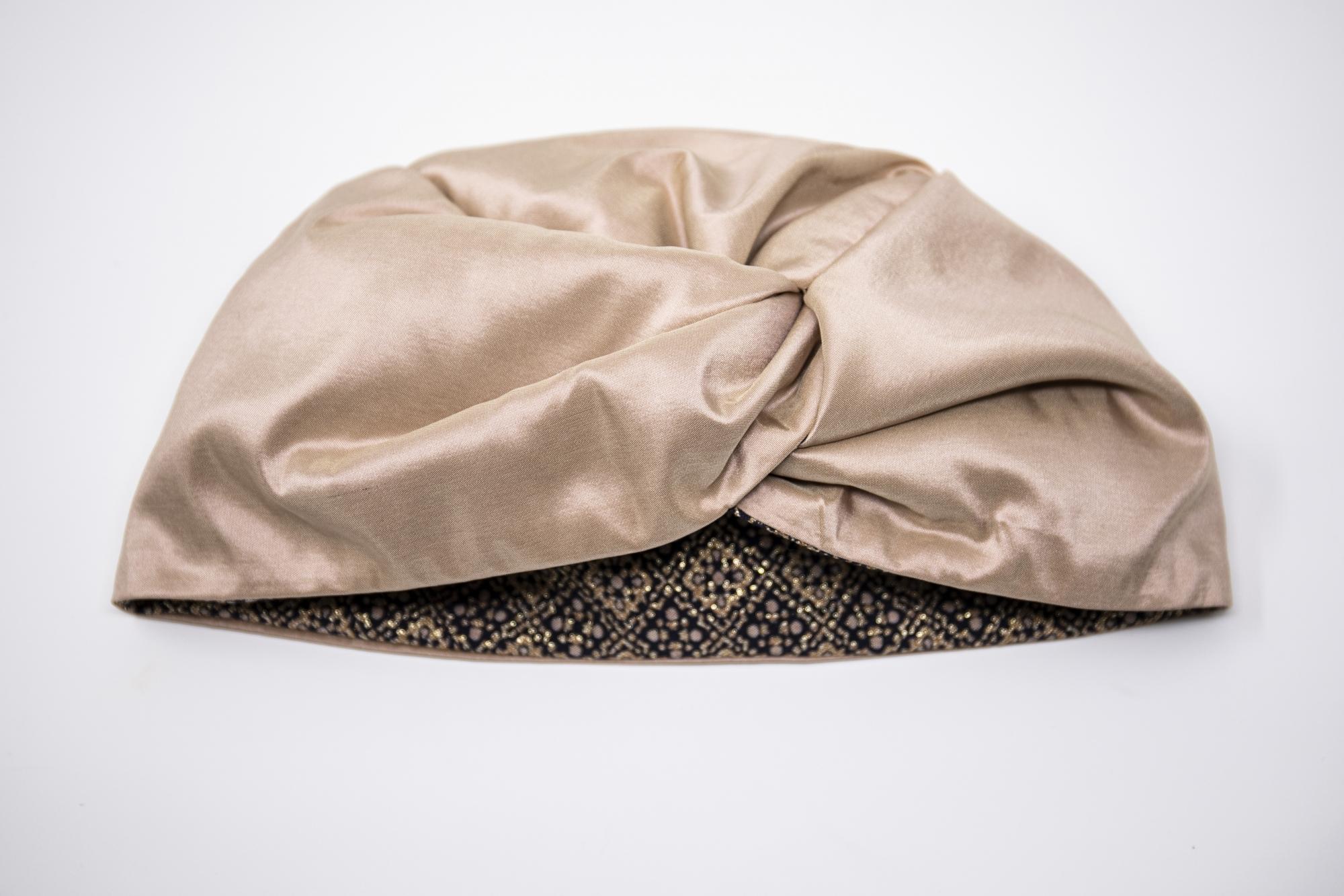 turbante in seta fatto a mano