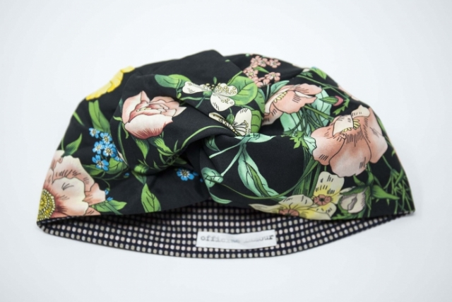 turbante con fantasia floreale udine