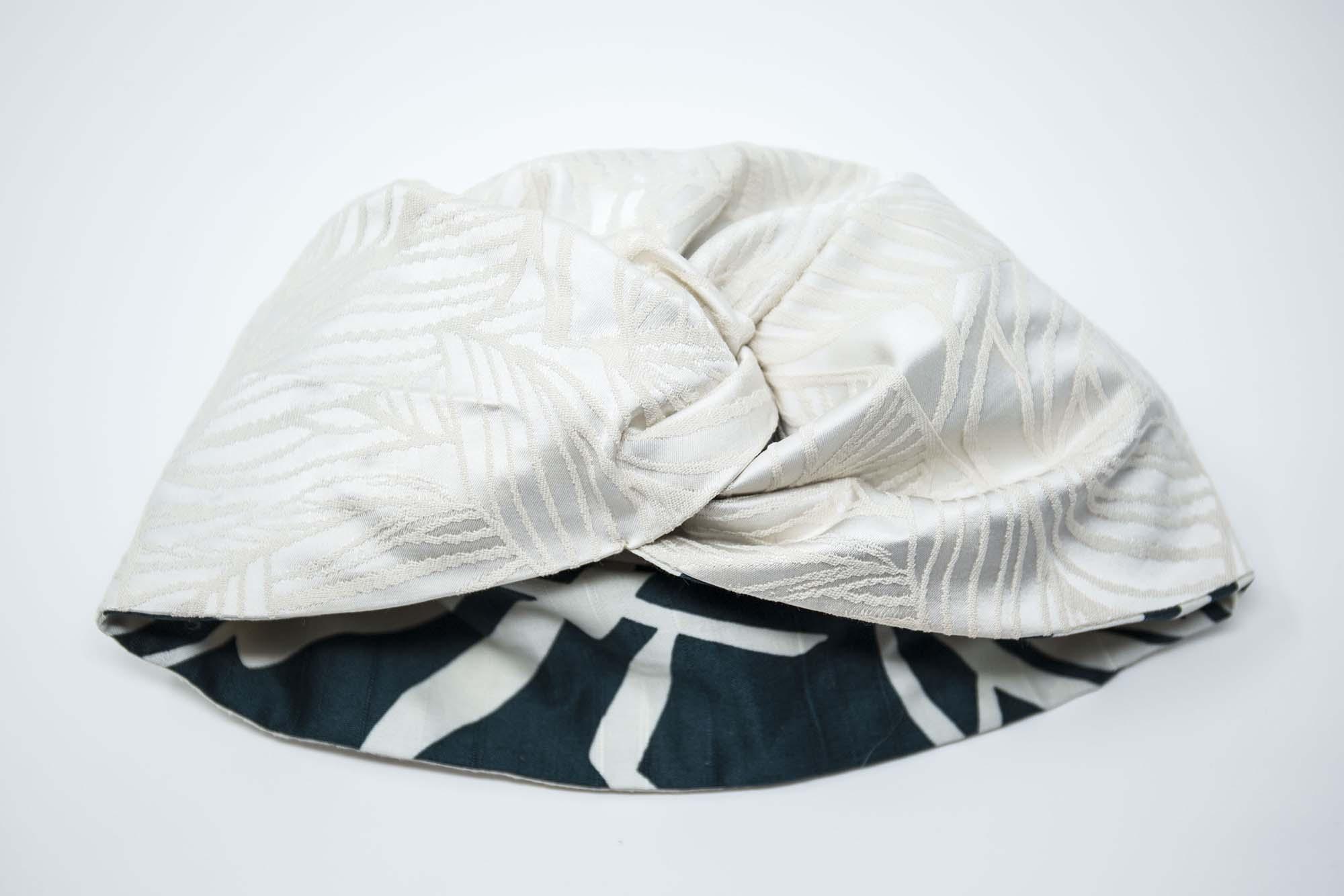 turbante reversibile bianco e verde udine