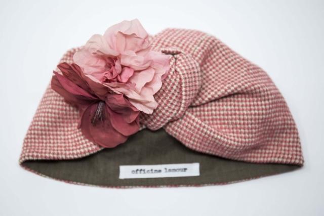 turbante sartoriale con fiore milano
