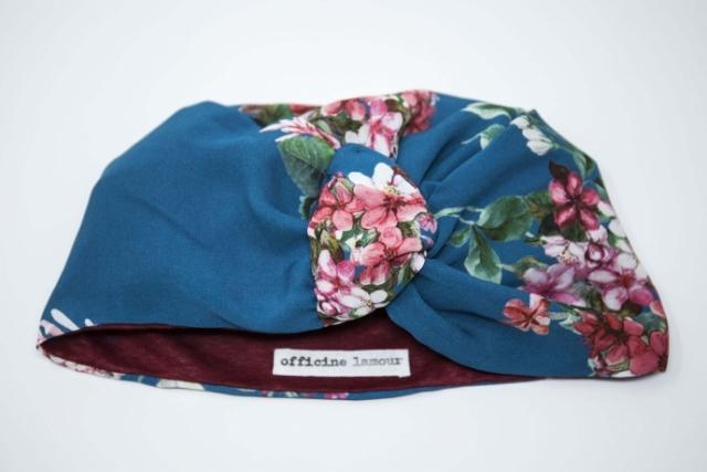 turbante su misura fantasia floreale udine