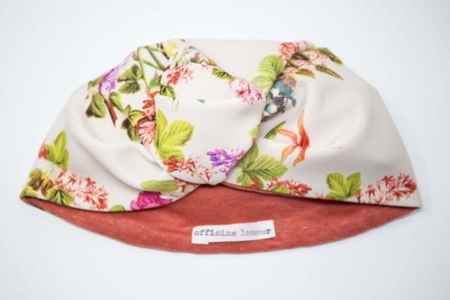 turbante da donna con fiori