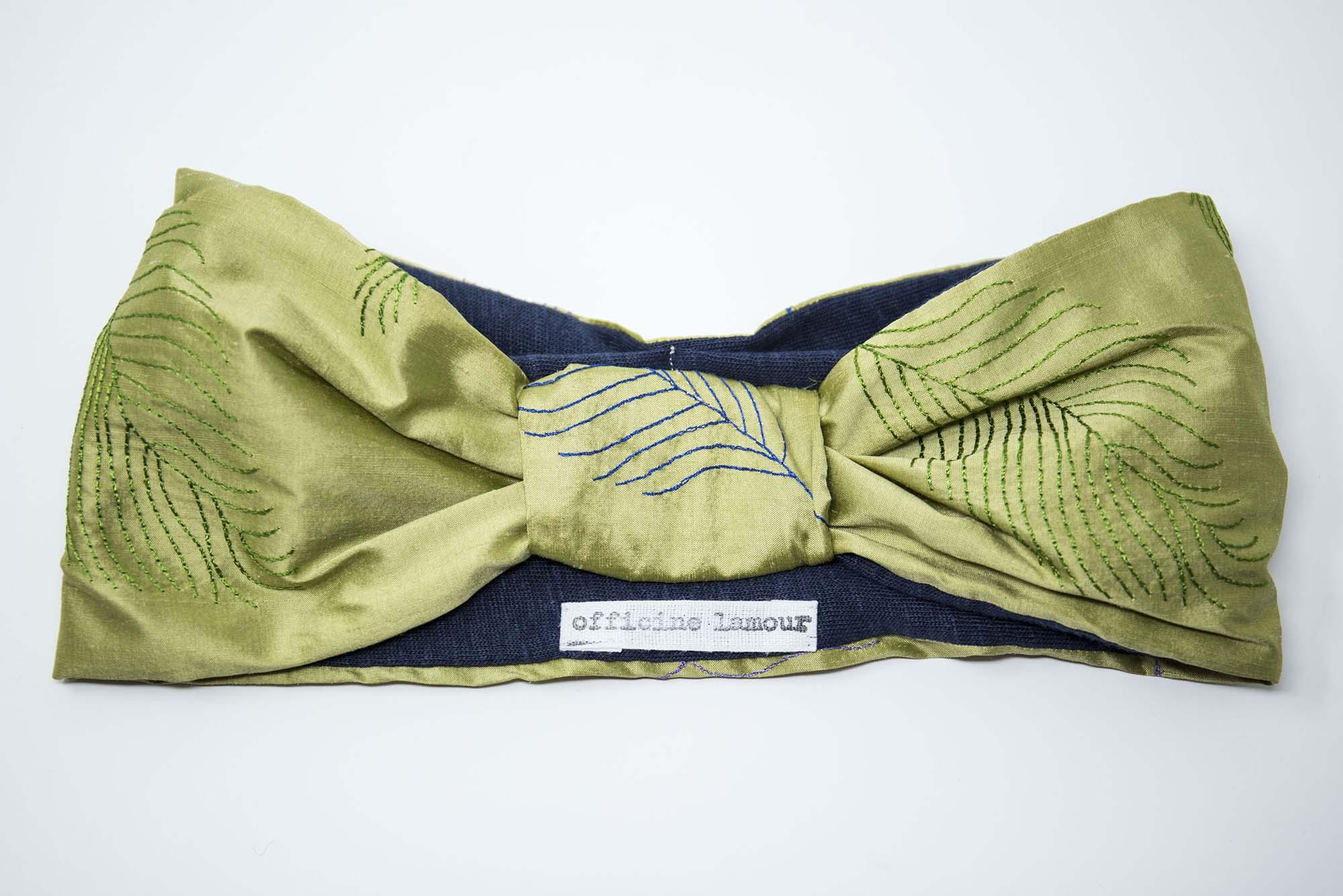 fascia per capelli in seta