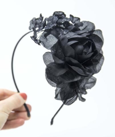 cerchietto da cerimonia con fiori in seta