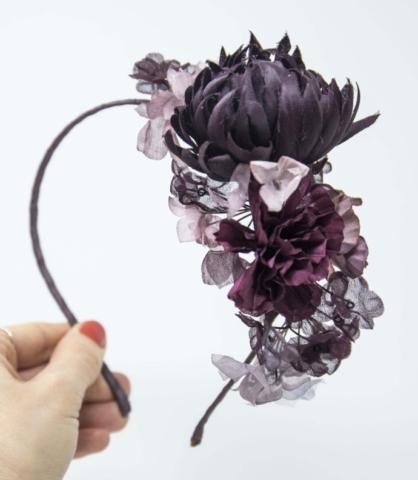 cerchietto fiori grandi cerimonia