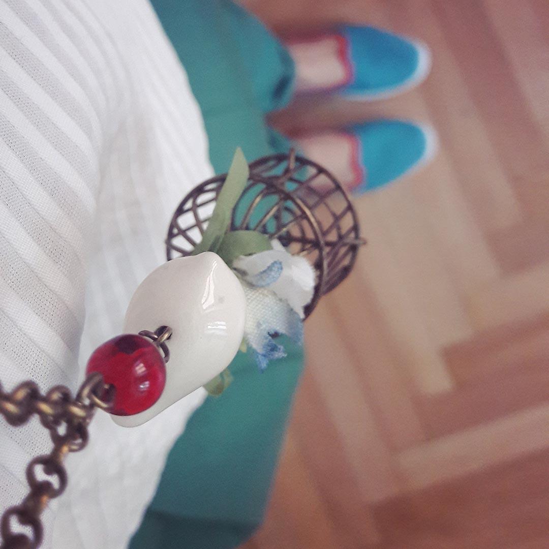 bijoux cage uccellino rètro