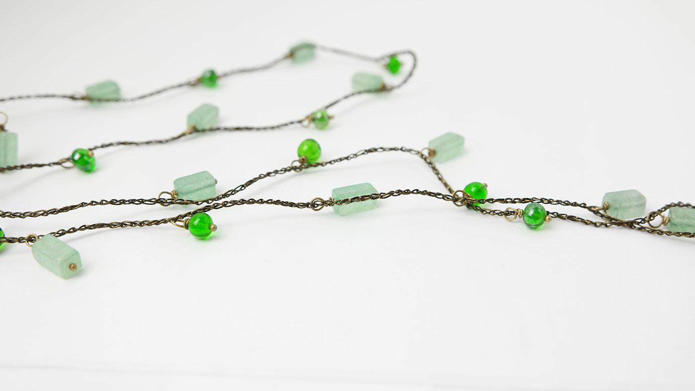 bijoux fatto a mano con perle in vetro di murano