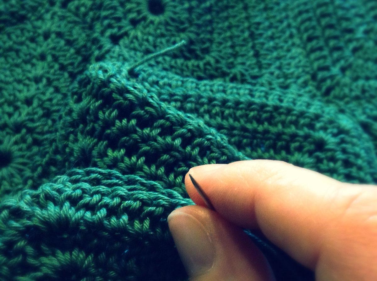 borsa crochet fatta a mano