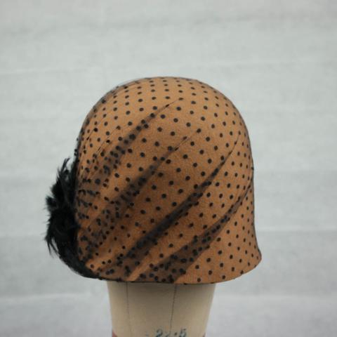 cappello cloche anni 20 fatto a mano su misura
