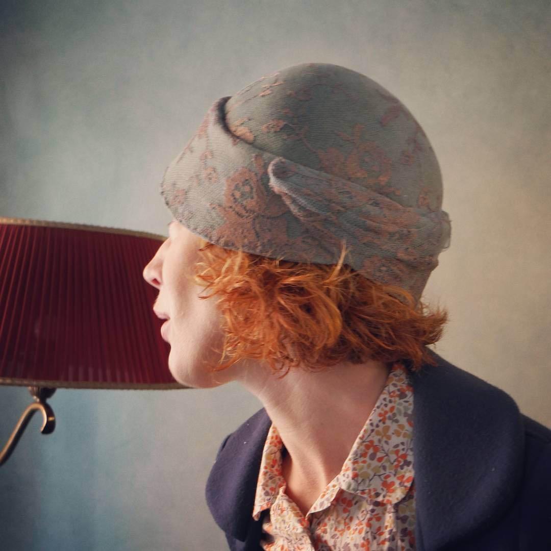 cappello fatto a mano stile rétro