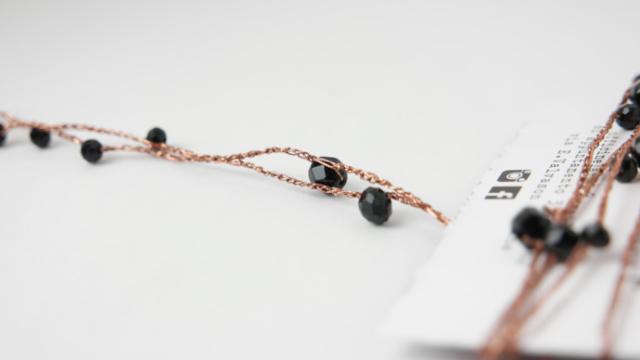 collier vintage style perline murano
