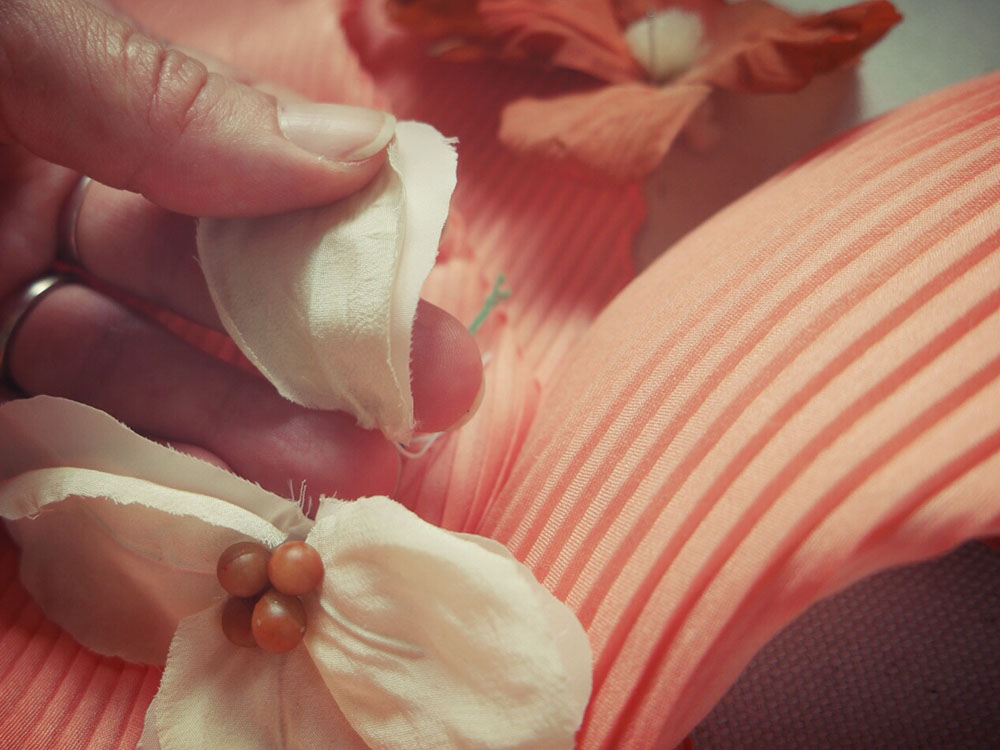 fascinator fiori in seta per capelli