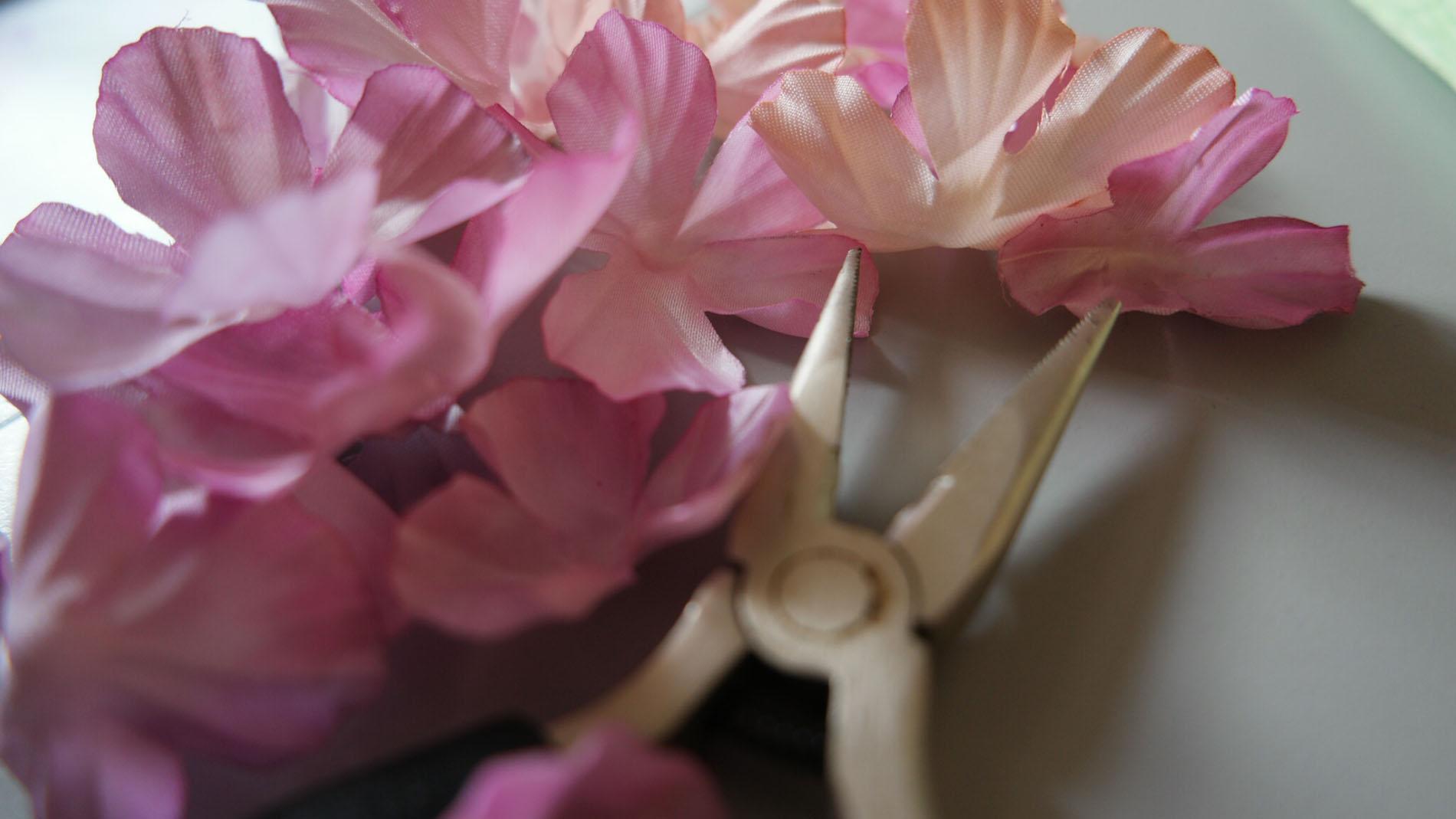 fiori seta acconciatura sposa