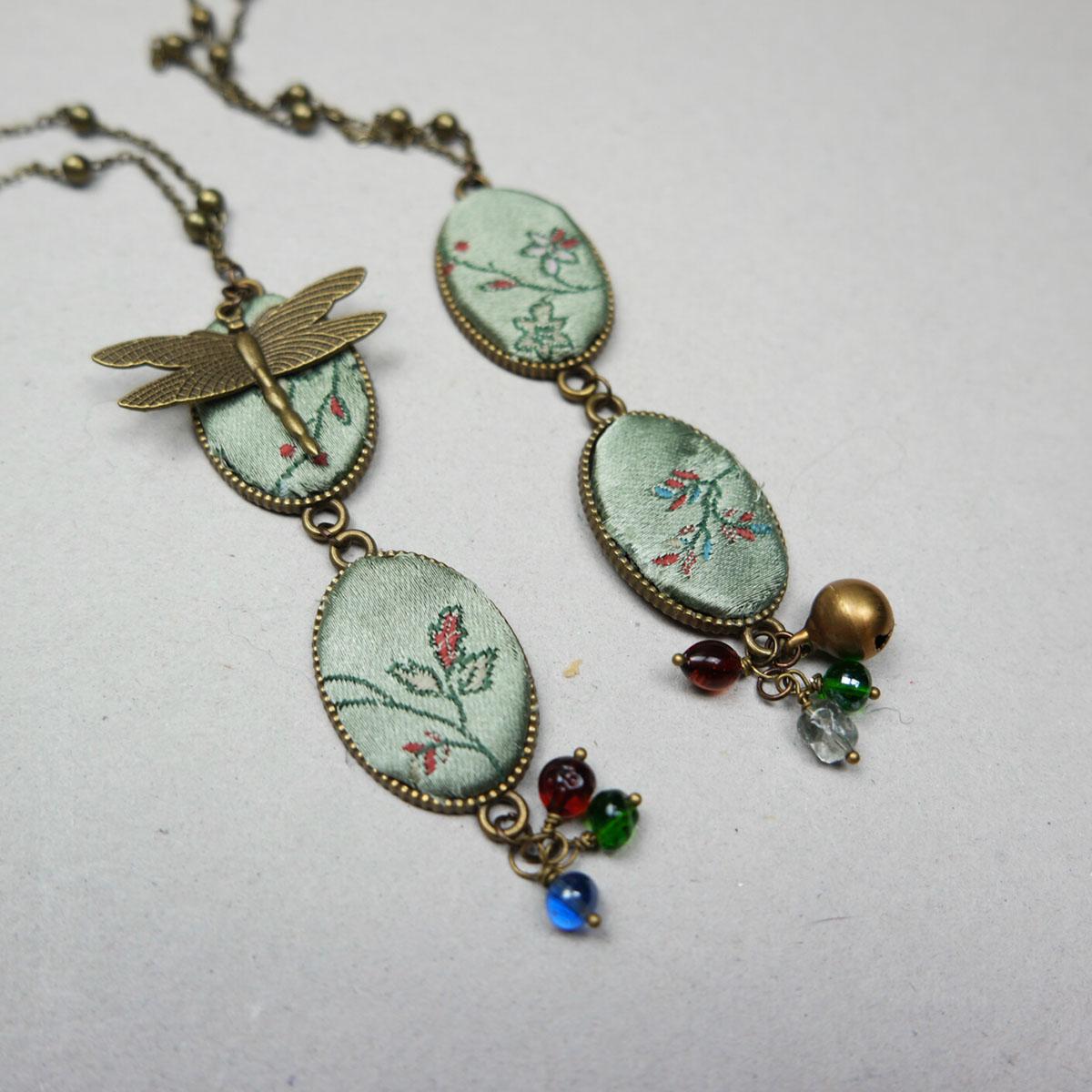 orecchini vintage fanè stoffa retrò style