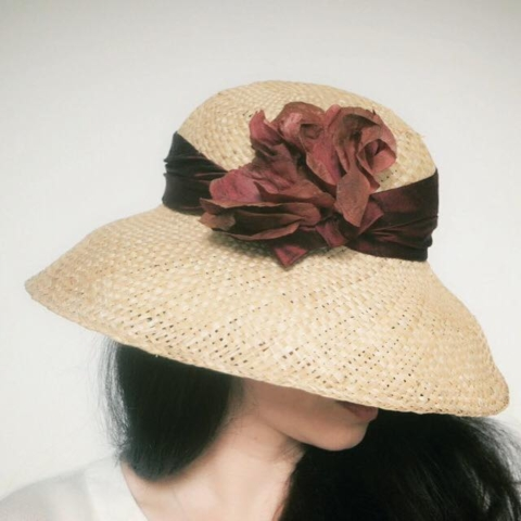 cappello donna in paglia artigianale sartoriale