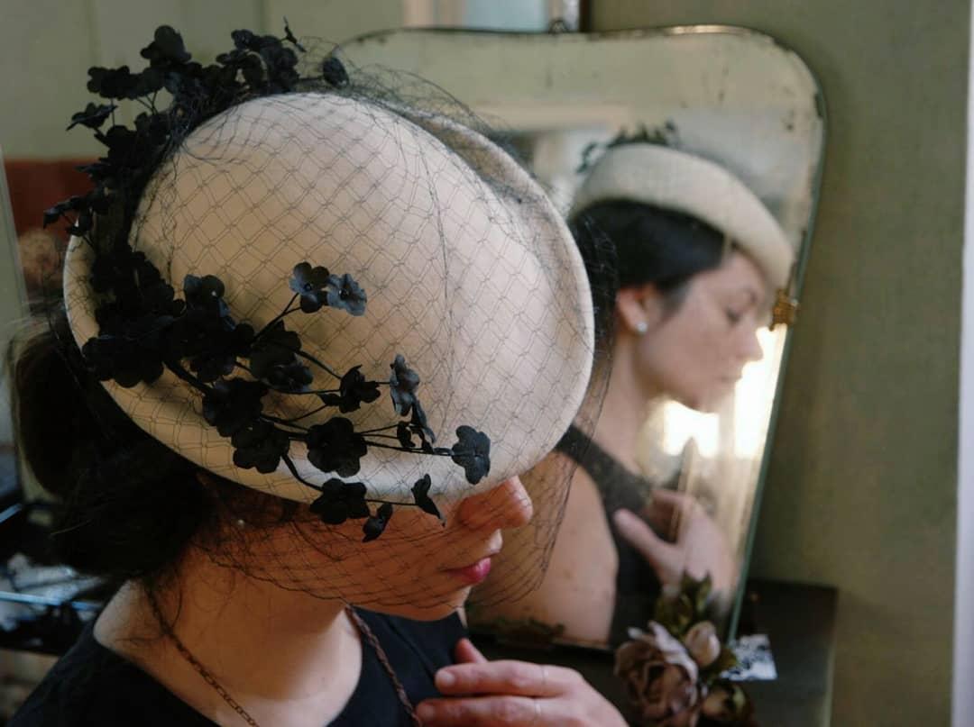 cappello con veletta fatto a mano su misura udine