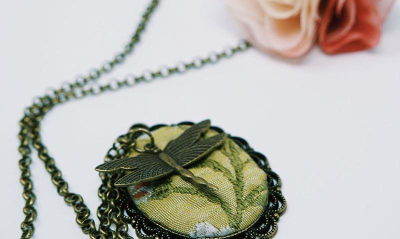gioielli fatti a mano stoffa stile retrò officinelamour