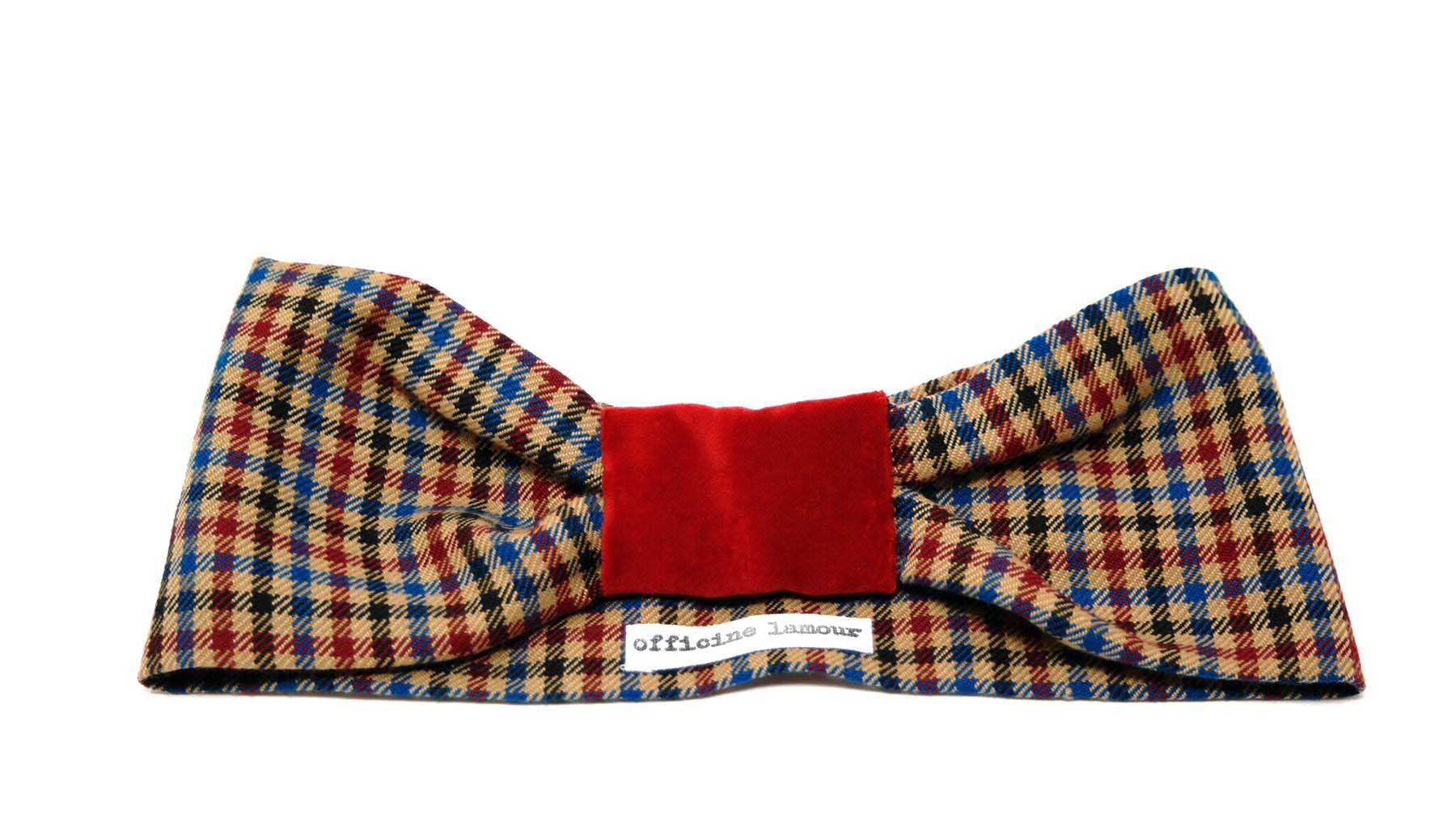 headband tartan velluto officinelamour