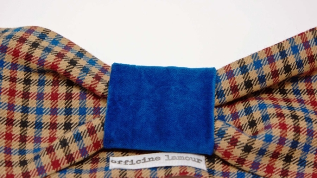 headband velluto tartan officinelamour