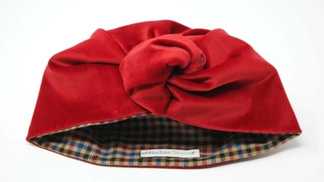 turbante rosso tartan udine