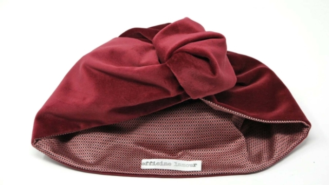 turbante velluto rosso officinelamour