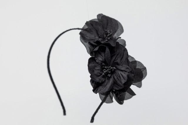 fascinator fiori in seta milano