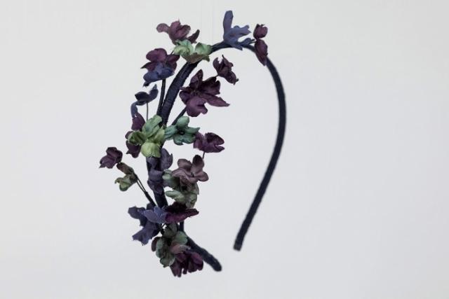 cerchietto per capelli con fiori in seta milano